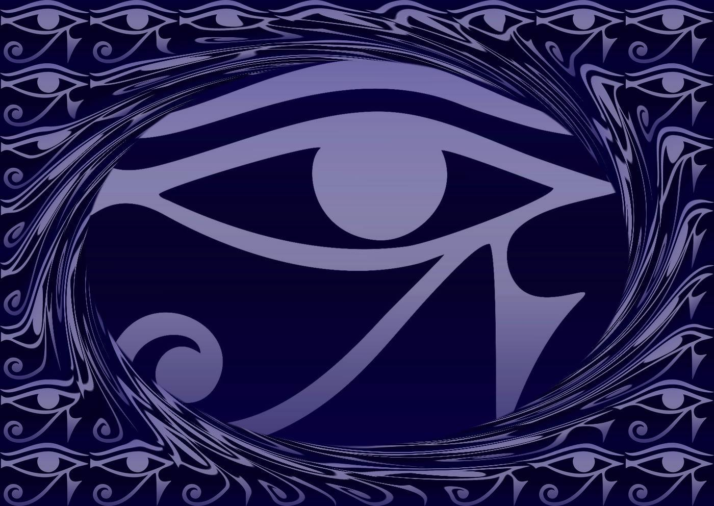Eye of Horus - reverse Eye of Thoth, Dreamstime.com-ID29356144 Copyright by Lavalova, tiled swirl effect created by Tuxpi.com